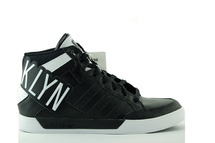 adidas Hard Court Hi Big Logo K Brooklyn Kinder Sneaker Schuhe Schwarz NEU