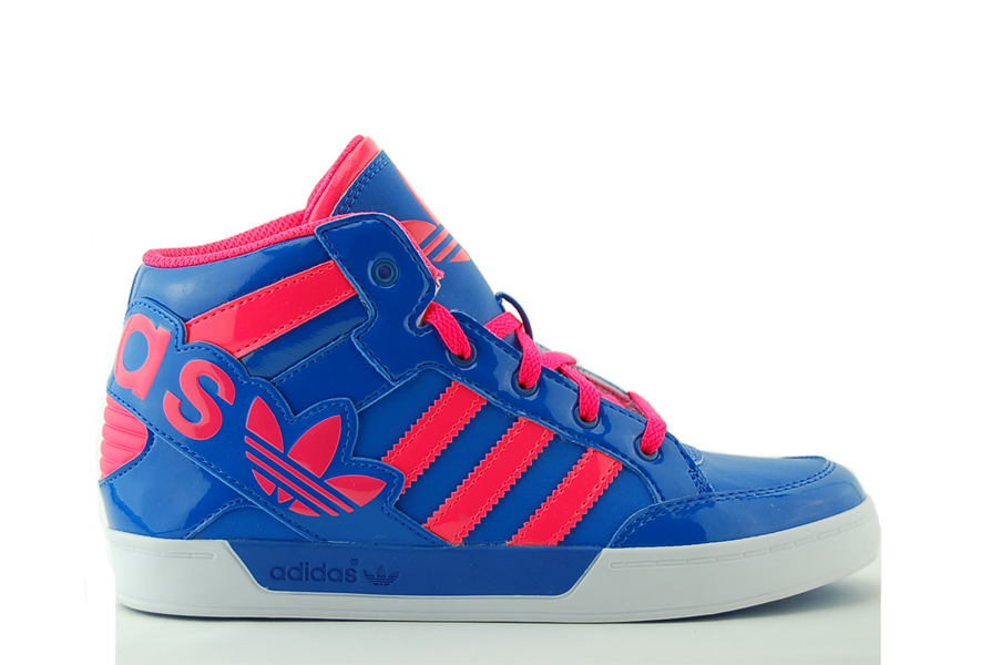 adidas Hard Court Hi Big Logo K Kinder Sneakers Blau Schuhe NEU