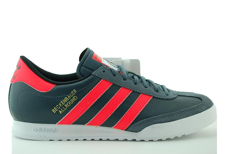 adidas Beckenbauer Sneaker Herren Schuhe Grau Leder NEU