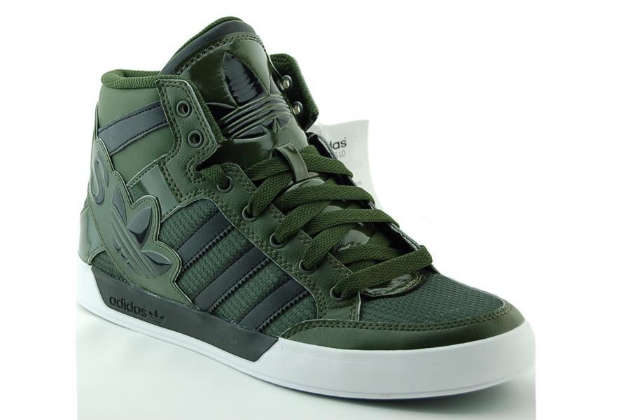 adidas hard court hi big logo sneaker herren schuhe gr n neu ebay. Black Bedroom Furniture Sets. Home Design Ideas