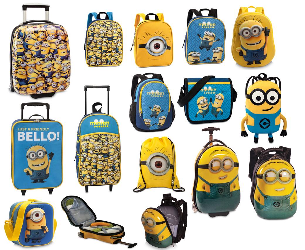 Minions Kinder Rucksack Tasche Schultertasche Schuhbeutel Trolley NEU