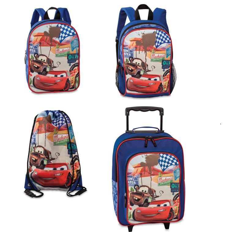 Disney Pixar Cars Kinder Tasche Rucksack Trolley Blau NEU