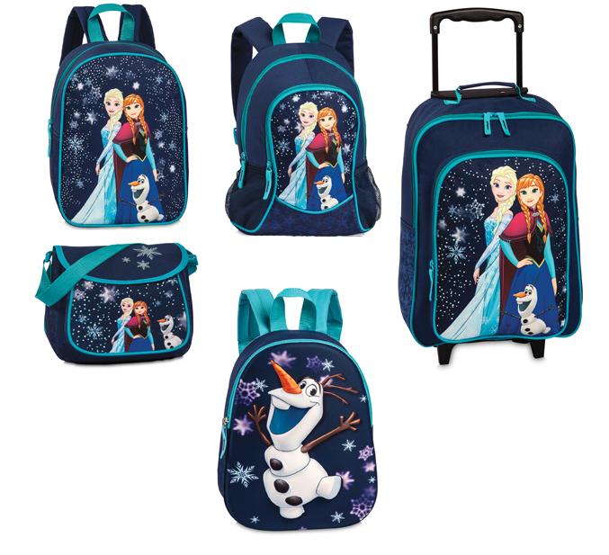Disney Frozen Kinder Rucksack Trolley Schultertasche Blau NEU