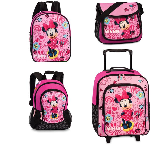 Disney Minnie Kinder Tasche Rucksack Trolley Pink NEU