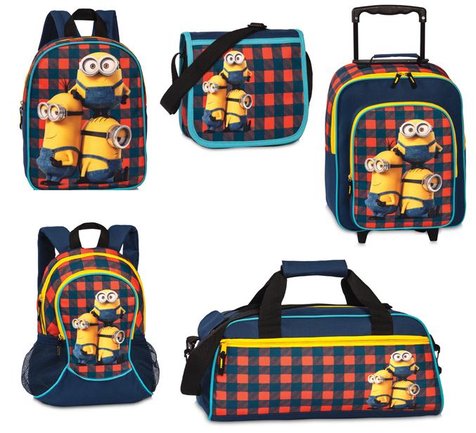 Minions Kinder Rucksack Tasche Schultertasche Trolley NEU
