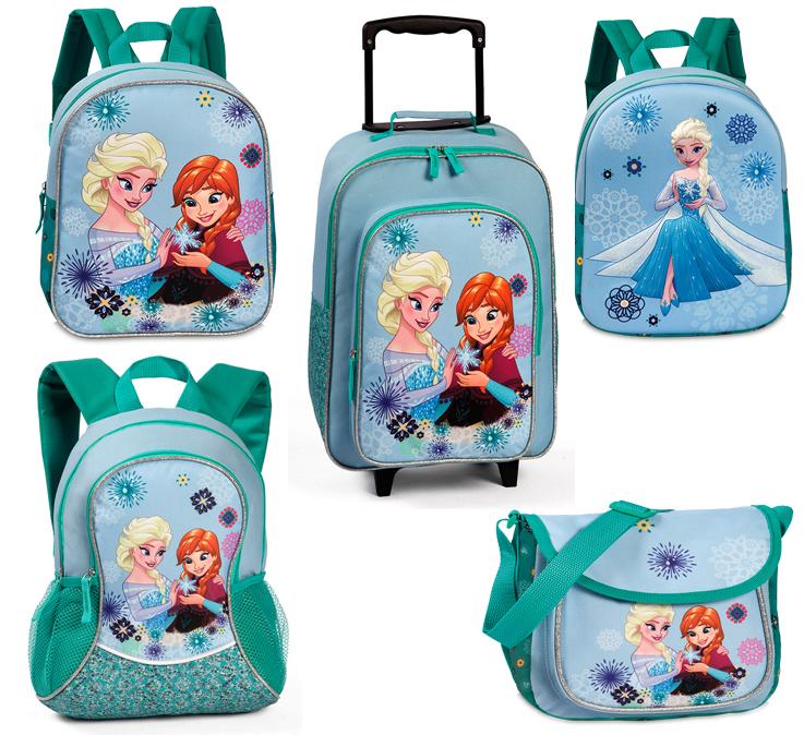 Disney Frozen Kinder Rucksack Trolley Schultertasche Hellblau NEU